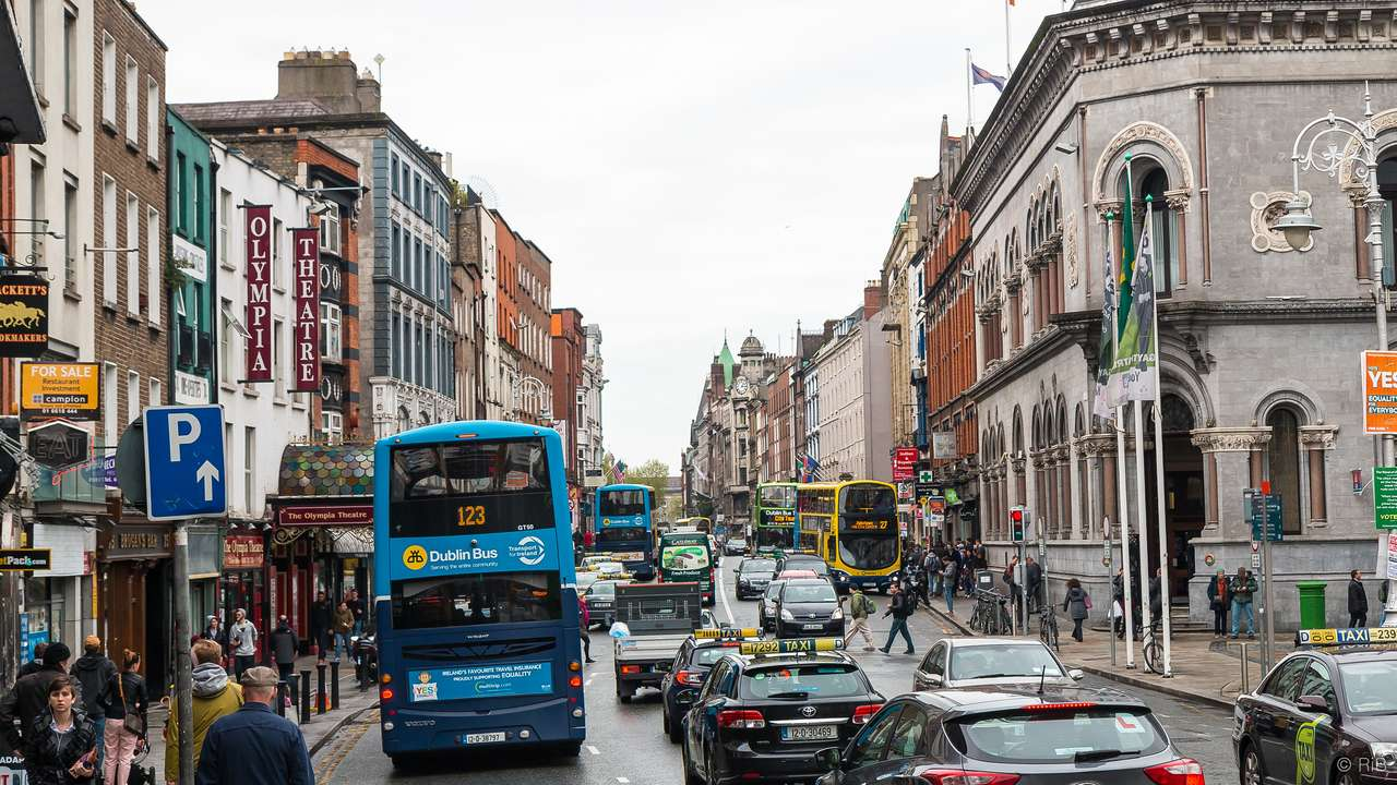 Dublino, Irlanda - Dublin street - Irlanda (16×9)