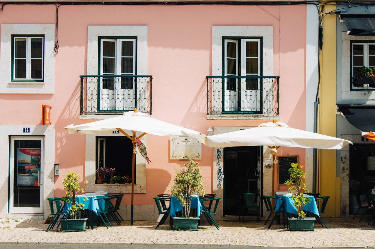 Lisabon Portugalsko - Káva v Lisabonu - Portugalsko (15×10)