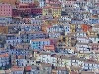 Calitri panorama AV Italië