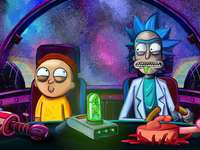 RICK AND MORTY EN NAVE