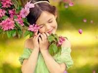 Het kleine bloemenmeisje