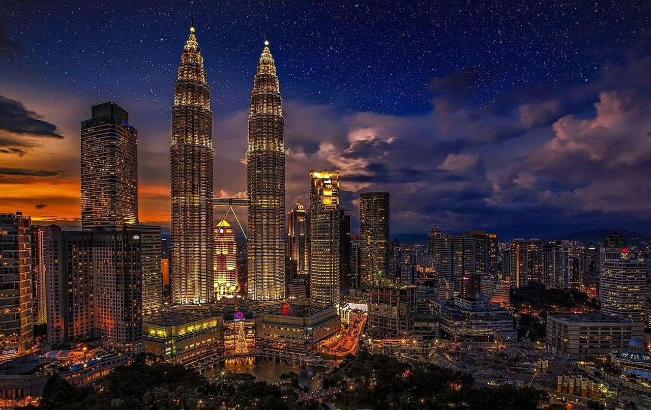 Kuala Lumpur - panorama města -------------- (15×10)
