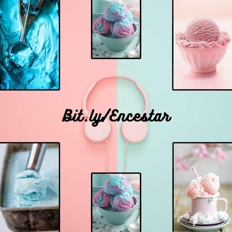 Цветен сладолед - Това е за рожден ден на приятел и те са снимки на сладолед (5×5)