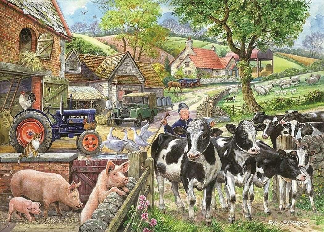 << Op het platteland >> - Landschap puzzel (12×9)