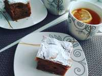 carrot cake and tea