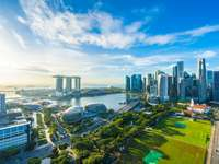 Singapore stadssilhuett