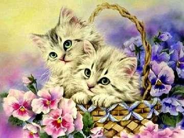 котенца в кошницата