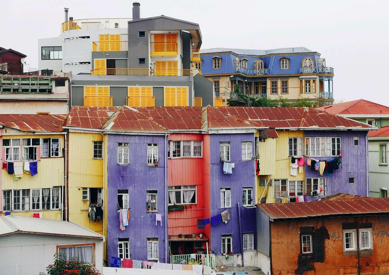 Valparaíso - Chile - Budovy Valparaíso - Chile (15×11)