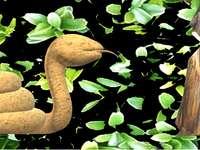slang met een bloem