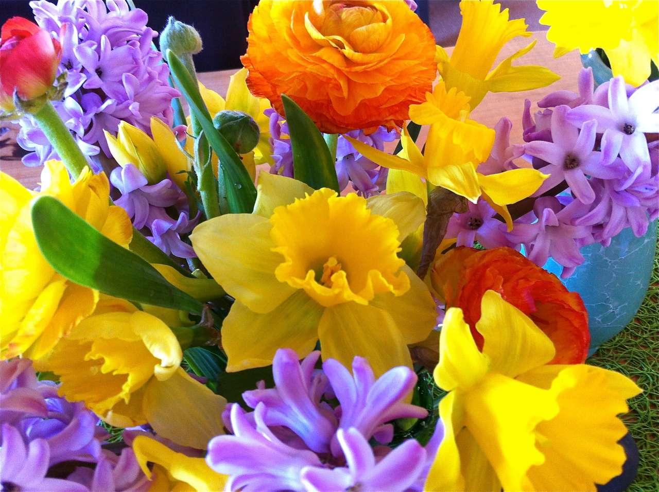 buchet de primăvară - buchet de flori de primăvară (13×10)