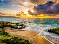 Strand naplementekor