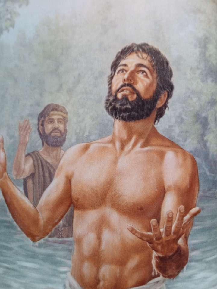 Battesimo di Gesù - Il battesimo di Gesù Cristo nel fiume Giordano (9×12)