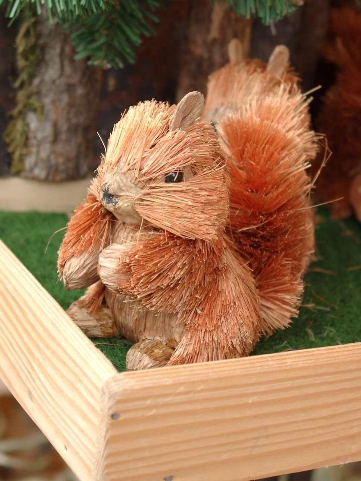 Putzi, de eekhoorn - Een souvenir aangeboden op de Viktualienmarkt in München (9×12)