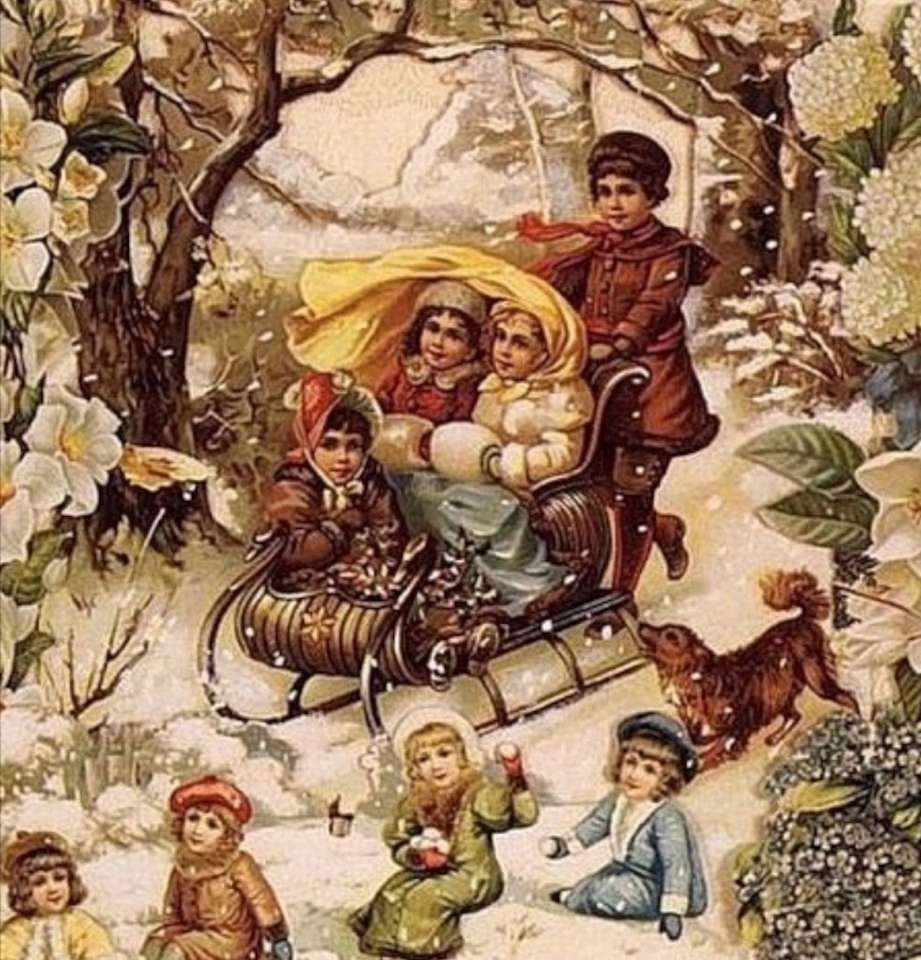 zimní dětské radovánky (19×20)