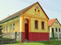 Colorful houses in Feked in Hungary