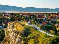 Colina do Castelo de Veszprem na Hungria