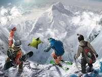 Snowboard, Springen, Winter