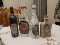 decoupage of bottles