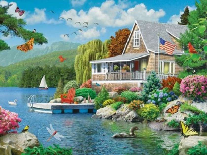 By the lake - Landscape puzzle (12×9)