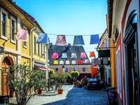 El lugar del artista Szentendre en Hungría