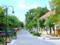 Město Szekszard v Maďarsku