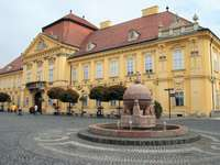 Szekesfehervar bisschoppelijk paleis in Hongarije