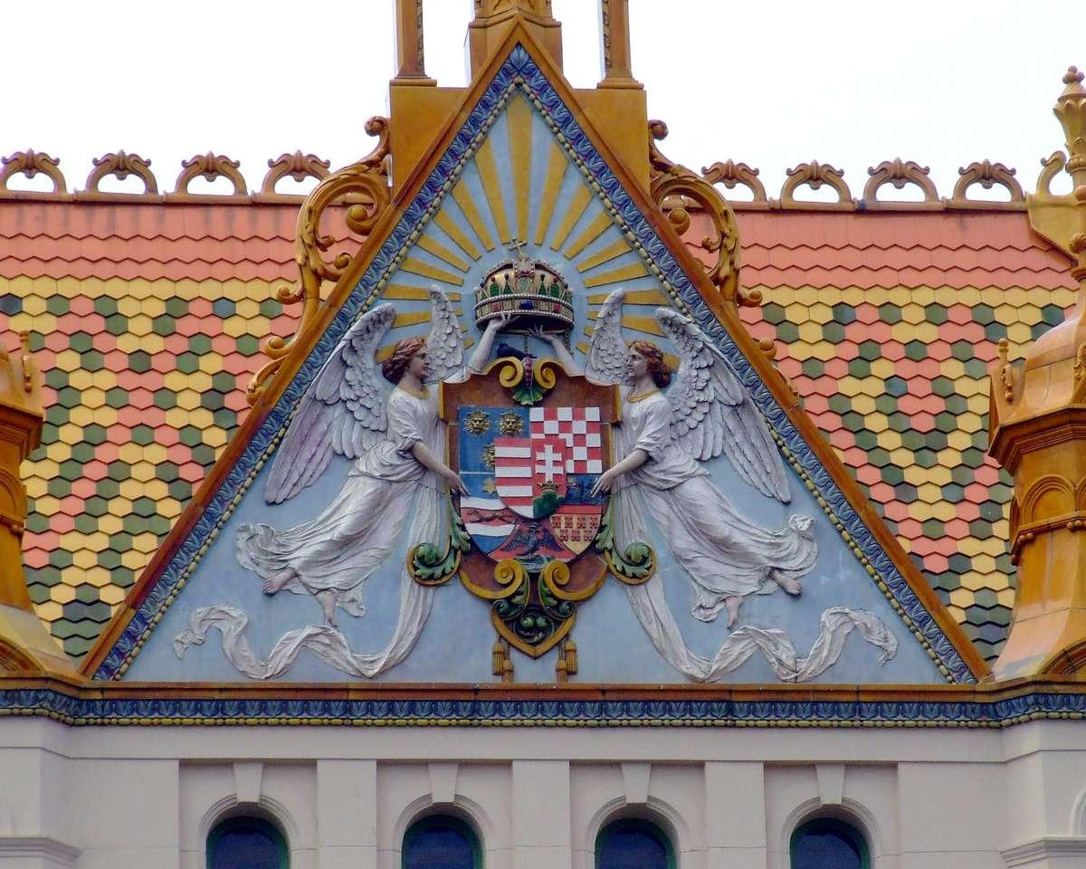 Ville de Pecs en Hongrie (14×12)