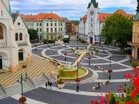 Ciudad de Kaposvar en Hungría