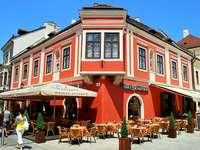 Město Gyor v Maďarsku