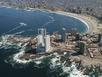 Cavancha, Chile, Plaża, Morze