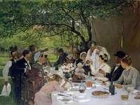 """""""Esküvői vacsora a Yportban"""", Albert Auguste Fourie"""