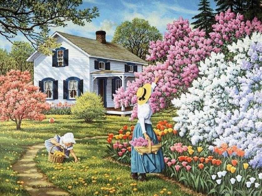 <<Primăvară>> - Puzzle peisaj (12×9)