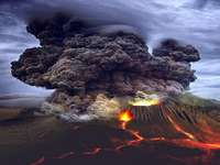 Die Schönheit des Vulkans.