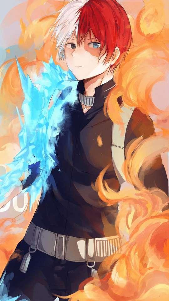 Incroyablement beau - Todoroki utilisant ses flammes et sa glace est parfait je les laisse UwU (6×11)