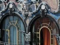 Fachada Art Nouveau Budapest Hungría