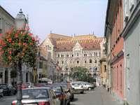 Budapešť v centru Maďarska