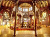 Будапеща Синагога Интериор Унгария