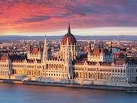 Edifício do Parlamento de Budapeste na Hungria