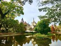Budapest Park Varosliget Castle Hongarije