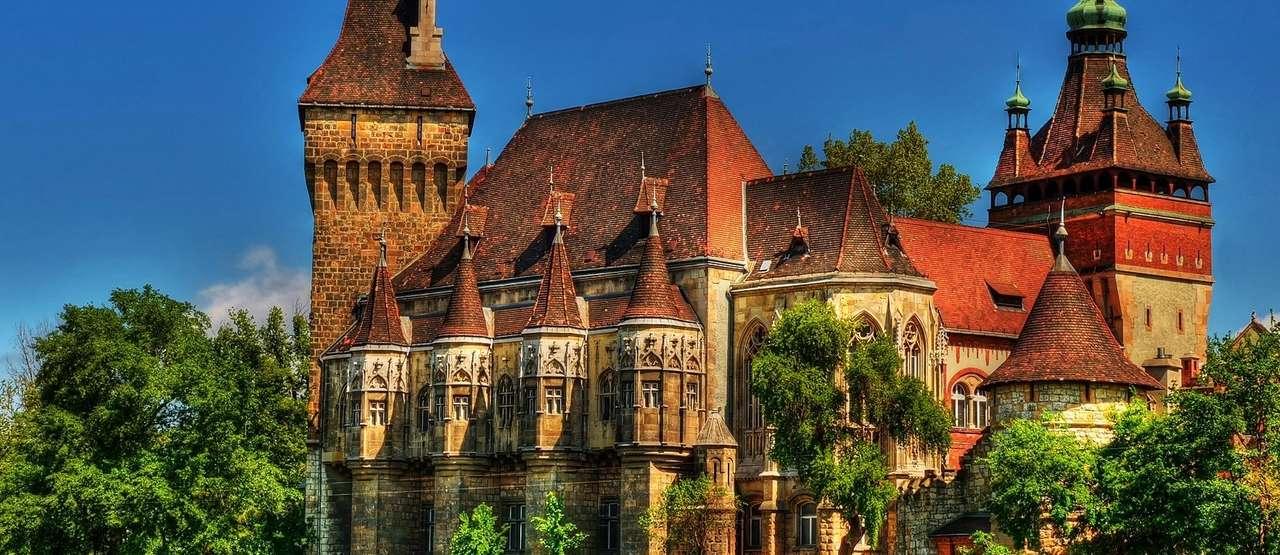 Budapest Park Varosliget Castle Hungary