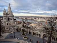 Budapeste Fisherman's Bastion na Hungria