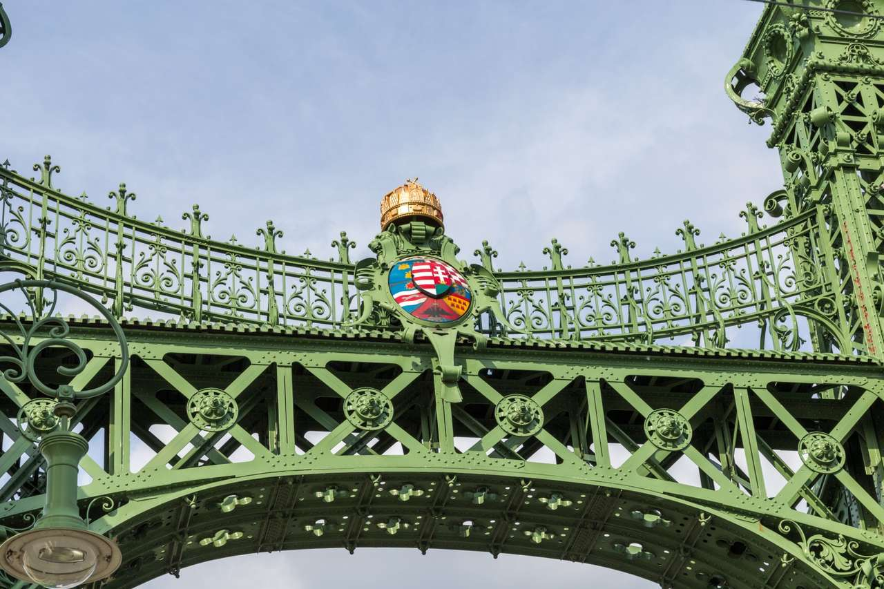 Budapest Liberty Bridge in Hungary (16×11)