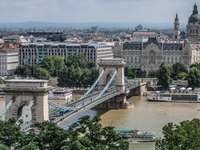 Budapest Chain Bridge in Hongarije