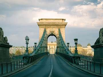 Budapest Chain Bridge in Hungary