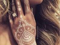 tetování - bílá hena