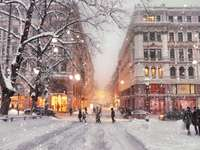 Helsinky v zimě