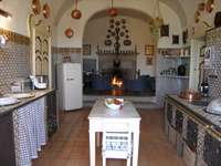 cocina antigua 1600 B&B Palazzo Zampaglione