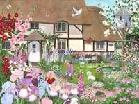 Градина през пролетта