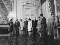 Apollo-Astronauten posieren in Belgien