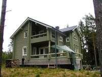 fiński drewniany dom